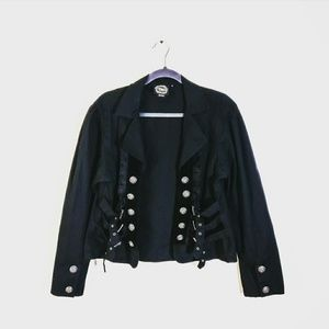 FUNHOUSE Carnival Goth Buckle Jacket Black
